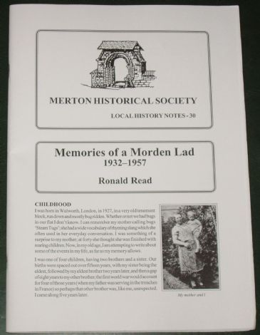 Memories of a Morden Lad 1932-1957, by Ronald Read